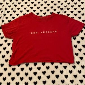 Los Angeles Red Brandy Melville Tee